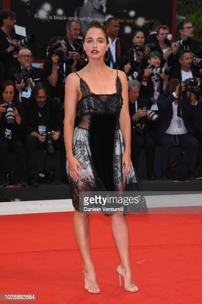 Matilde Gioli walks the red carpet ahead of the 'Suspiria' screening during the 75th Venice Film Festival at Sala Grande on September 1 2018 in...