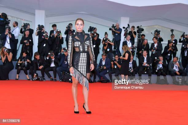 Matilde Gioli walks the red carpet ahead of the 'The Shape Of Water' screening during the 74th Venice Film Festival at Sala Grande on August 31 2017...