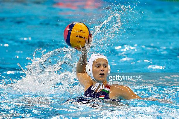 Matilde Ortiz Reyes of Spain in action during the Women's 5th8th Place classification match between Spain and China at Olympic Aquatics Stadium on...