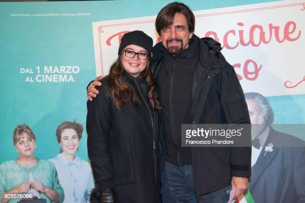 Matilde Zarcone and Vittorio Staffelli attend a photocall for 'Puoi Baciare Lo Sposo' on February 28 2018 in Milan Italy