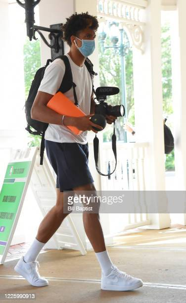 Matisse Thybulle of the Philadelphia 76ers arrives at the hotel as part of the NBA Restart 2020 on July 9, 2020 in Orlando, Florida. NOTE TO USER:...