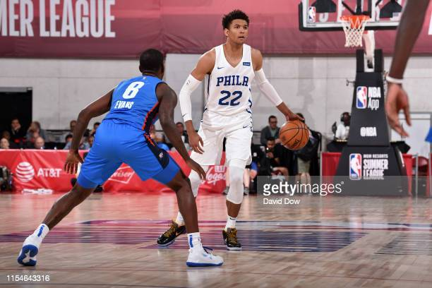 Matisse Thybulle of the Philadelphia 76ers handles the ball against the Oklahoma City Thunder on July 8 2019 at the Cox Pavilion in Las Vegas Nevada...
