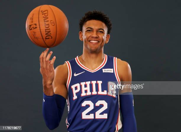 Matisse Thybulle of the Philadelphia 76ers poses for a portrait during Media Day at 76ers Training Complex on September 30, 2019 in Camden, New...
