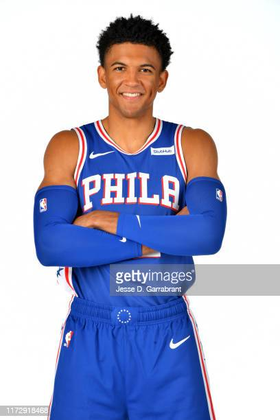 Matisse Thybulle of the Philadelphia 76ers poses for a portrait on October 1, 2019 at the Philadelphia 76ers Training Complex in Camden, New Jersey....