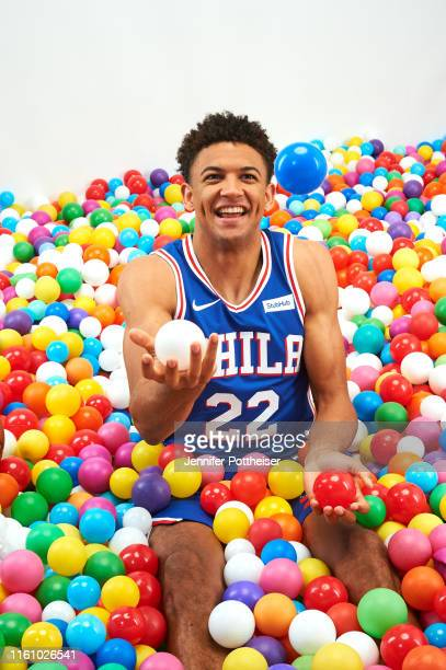 Matisse Thybulle of the Philadelphia 76ers poses for a portrait during the 2019 NBA Rookie Photo Shoot on August 11 2019 at the Fairleigh Dickinson...