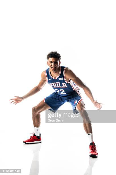 Matisse Thybulle of the Philadelphia 76ers poses for a portrait during the 2019 NBA Rookie Photo Shoot on August 11 2019 at Fairleigh Dickinson...