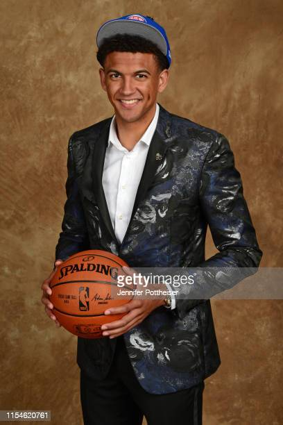 Matisse Thybulle poses for a portrait after being drafted by the Philadelphia 76ers at the 2019 NBA Draft on June 20, 2019 at Barclays Center in...