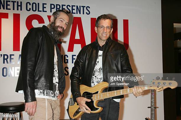 Matisyahu and Designer Kenneth Cole attend the Kenneth Cole celebration for Fashion's Night Out at Kenneth Cole New York Rockefeller Center Store on...
