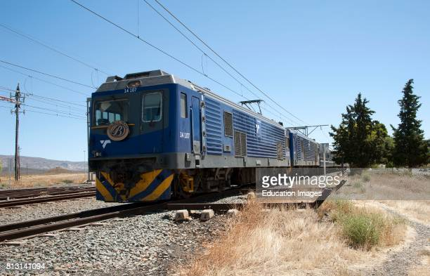 Matjiesfontein in the Central Karoo region of the Western cape South Africa The luxury Blue Train which travels from Cape Town to Pretoria