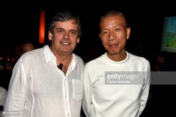 Matko Tomicic and Cai GuoQiang attend Boom The Cosmic LongHouse Benefit at LongHouse Reserve on July 22 2017 in East Hampton New York