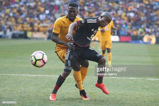 Matlaba Thabo of Orlando Pirates in action against Moleko Kgotso Kaizer Chiefs FC during 2016 Carling Black Label Cup between Kaizer Chiefs FC and...