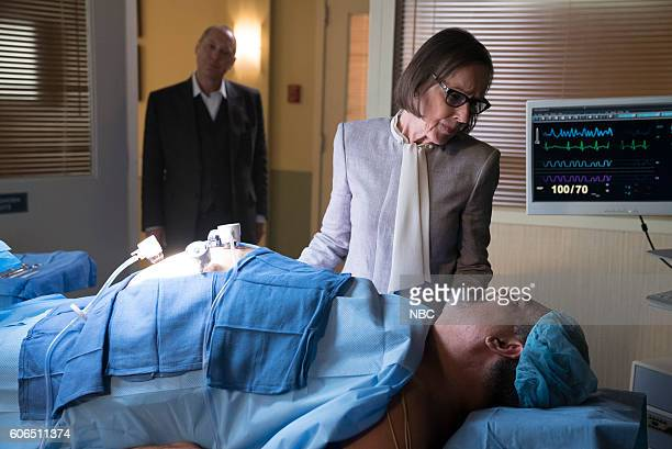 THE BLACKLIST 'Mato' Episode 402 Pictured James Spader as Raymond 'Red' Reddington Susan Blommaert as Mr Kaplan Jack Topalian as Little Nikos