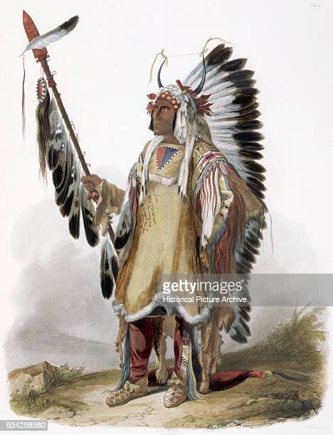 MatoTope A Mandan Chief after a Painting by Karl Bodmer
