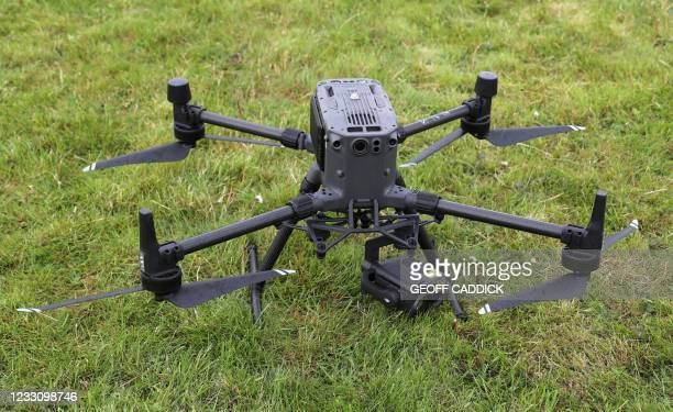 Matrice M300 drone , used by police, is pictured during a demonstration for media ahead of the upcoming in-person G7 Summit to be held in Cornwall,...