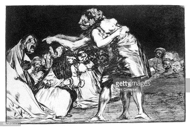 'Matrimonial nightmare' 18191823 Plate 7 of 'Proverbs' published in 1864 The series also known as 'disparates' or 'sueños' is seen as symbolic of the...