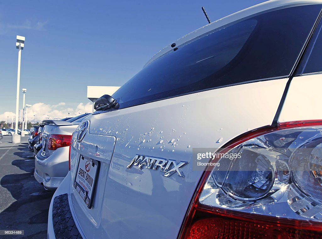 A Matrix Sits In The Lot Of Brent Brown Toyota In Orem Utah US On Monday