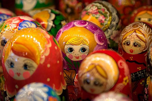 Matryoshka dolls for sale at souvenir shop