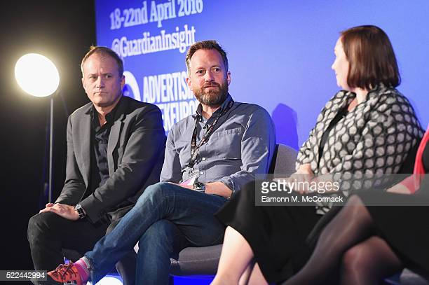 Mats Carduner CEO Fifty Five George Prest Founder Blood and Doina Harris Global MD ATB at AppNexus AppNexus during The Data Congress on The Guardian...