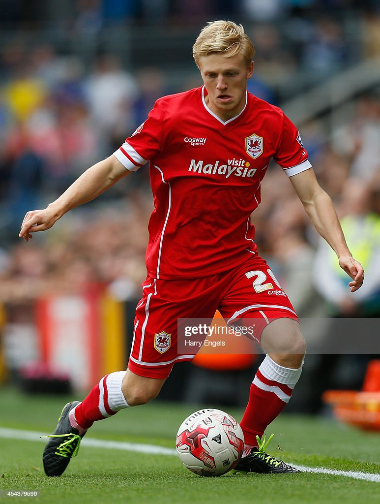 Mats Daehli of Cardiff City in action during the Sky Bet Championship match between Fulham and Cardiff City at Craven Cottage on August 30, 2014 in London, England.