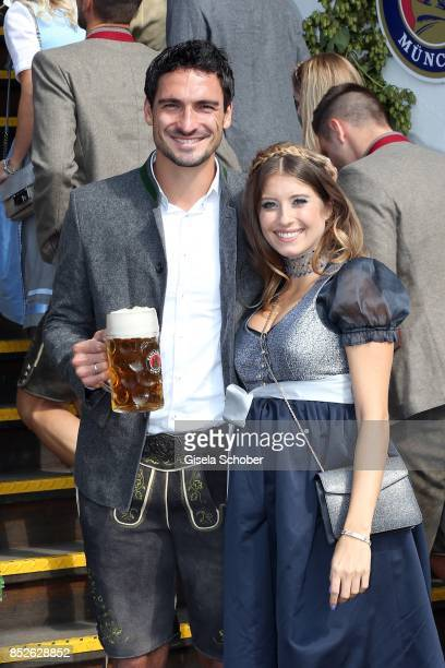 Mats Hummels and his wife Cathy Hummels during the 'FC Bayern Wies'n' as part of the Oktoberfest at Theresienwiese on September 23 2017 in Munich...