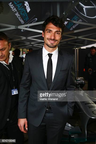 Mats Hummels attends the Hugo Boss Store Event on April 25 2016 in Duesseldorf Germany