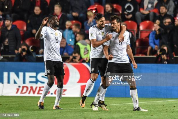 Mats Hummels Germany celebrates with his teammates after scoring during the 2018 FIFA World Cup Qualifications Group C match between Czech Republic...
