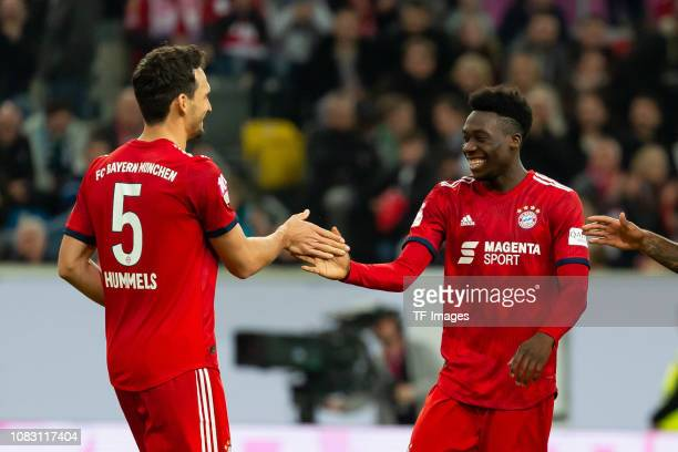 Mats Hummels of Bayern Muenchen and Alphonso Davies of Bayern Muenchen celebrate after winning the Telekom Cup 2019 Final between FC Bayern Muenchen...