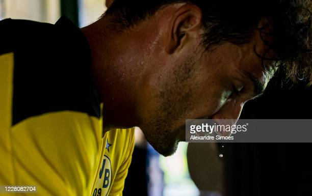 Mats Hummels of Borussia Dortmund after a training session as part of the training camp on August 16, 2020 in Bad Ragaz, Switzerland.