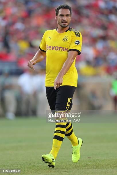 Mats Hummels of Borussia Dortmund during the preseason friendly match between Borussia Dortmund and Liverpool FC at Notre Dame Stadium on July 19...