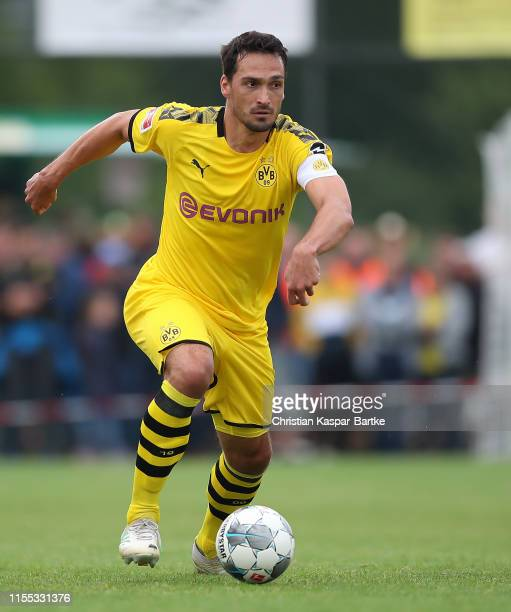 Mats Hummels of Borussia Dortmund in action during the preseason friendly match between FC Schweinberg and Borussia Dortmund on July 12 2019 in...