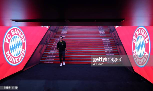 Mats Hummels of Borussia Dortmund walks through the players' tunnel before the Bundesliga match between FC Bayern Muenchen and Borussia Dortmund at...