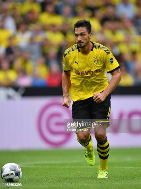 Mats Hummels of Dortmund in action during the Bundesliga match between Borussia Dortmund and FC Augsburg at Signal Iduna Park on August 17 2019 in...