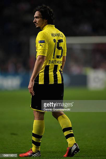 Mats Hummels of Dortmund walks on the pitch during the UEFA Champions League Group D match between Ajax Amsterdam and Borussia Dortmund at Amsterdam...
