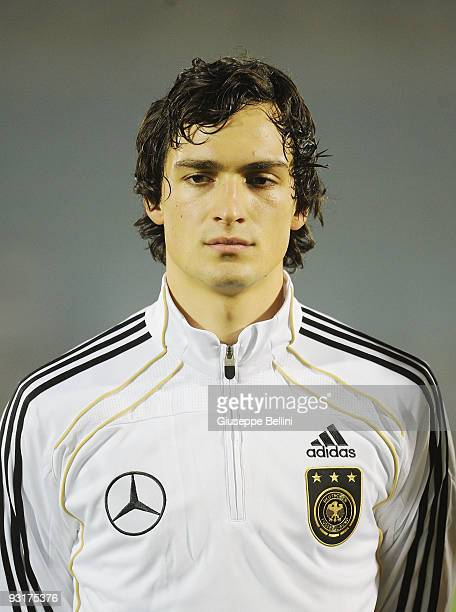 Mats Hummels of Germany before the UEFA Under 21 Championship match between San Marino and Germany at Olimpico stadium on November 17, 2009 in...