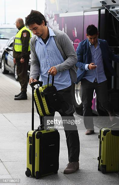 Mats Hummels of Germany departs for their UEFA EURO 2012 semifinal match against Italy at Lech Walesa Airport at Lech Walesa Airport on June 27 2012...