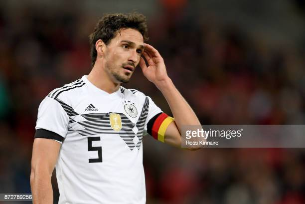 Mats Hummels of Germany in action during the international friendly match between England and Germany at Wembley Stadium on November 10, 2017 in...