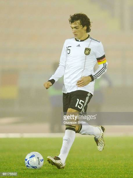 Mats Hummels of Germany in action during the UEFA Under 21 Championship match between San Marino and Germany at Olimpico stadium on November 17 2009...