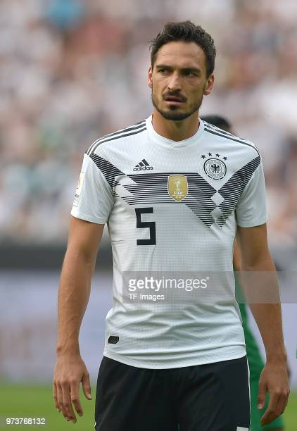 Mats Hummels of Germany looks on during the international friendly match between Germany and Saudi Arabia at BayArena on June 8 2018 in Leverkusen...