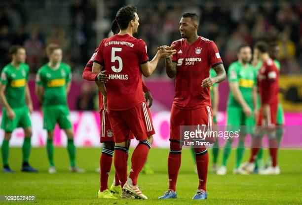 Mats Hummels of Muenchen celebrates with Jerome Boating of Bayern Muenchen during the Telekom Cup 2019 Final between FC Bayern Muenchen and Borussia...
