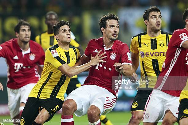 Mats Hummels of Munich during DFL Supercup 2016 match between Borussia Dortmund and FC Bayern Muenchen at Signal Iduna Park on August 14 2016 in...