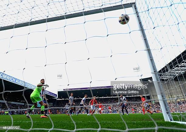 Mats Moller Daehli of Cardiff City scores their third goal during the Barclays Premier League match between West Bromwich Albion and Cardiff City at...
