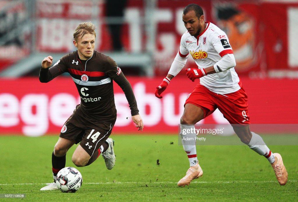 SSV Jahn Regensburg v FC St. Pauli - Second Bundesliga : News Photo