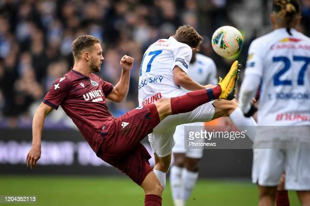Mats Rits midfielder of Club Brugge during the Jupiler Pro League match between KRC Genk and Club Brugge KV on March 01 2020 in Genk Belgium