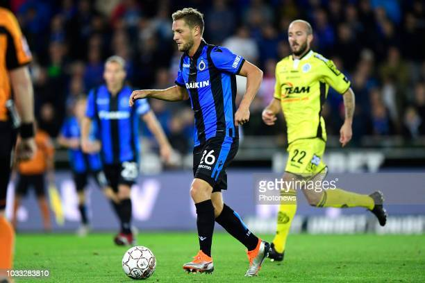 Mats Rits midfielder of Club Brugge is attacking during the Jupiler Pro League match between Club Brugge and KSC Lokeren OV at the Jan Breydel...