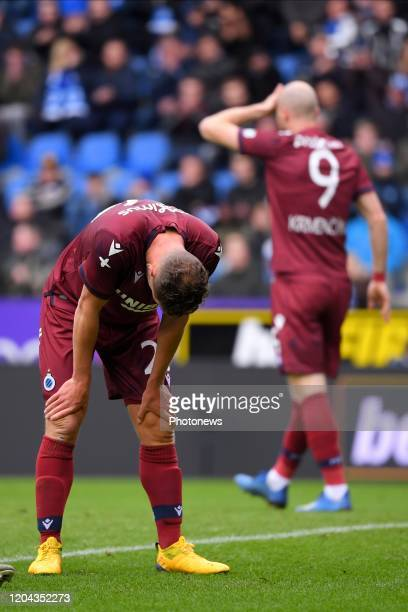Mats Rits midfielder of Club Brugge missing an opportunity during the Jupiler Pro League match between KRC Genk and Club Brugge KV on March 01 2020...