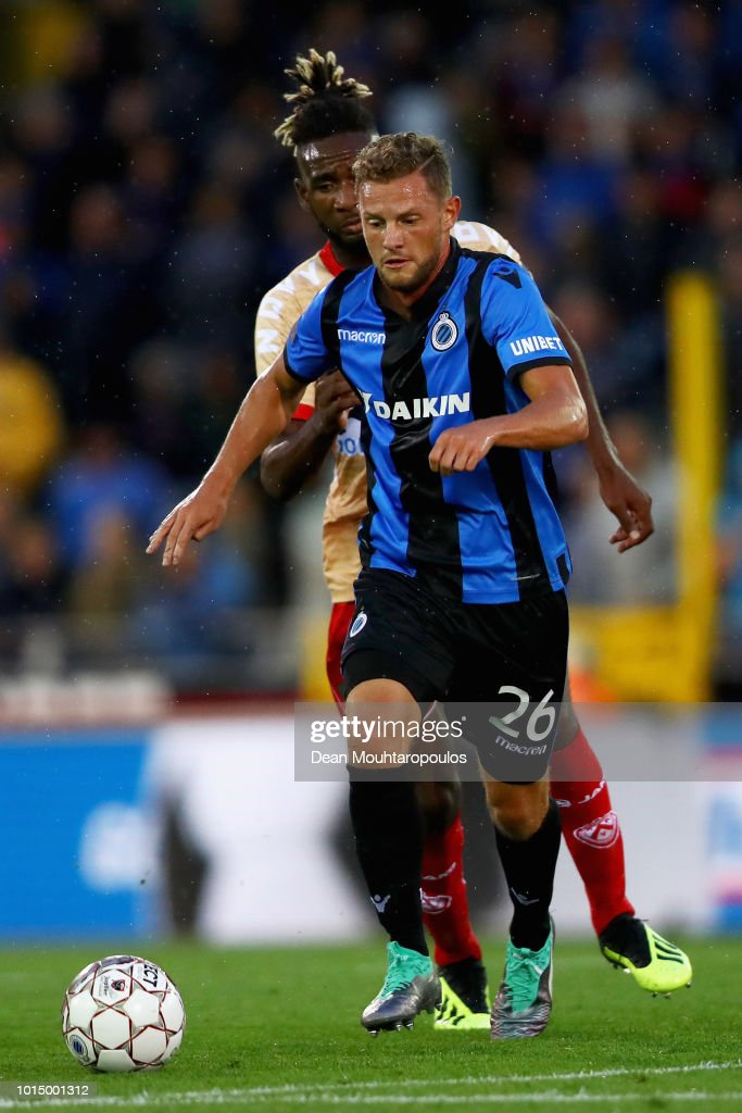 Mats Rits Of Club Brugge KV Battles For The Ball With Ilombe Mboyo Of News Photo Getty Images