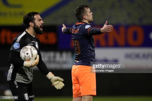 Mats Seuntjens of Fortuna Sittard celebrates 0-1 during the Dutch Eredivisie match between RKC Waalwijk v Fortuna Sittard at the Mandemakers Stadium...