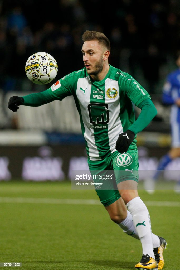 Mats Solheim of Hammarby IF during the Allsvenskan match between GIF Sundsvall and Hammarby IF at Norrporten Arena on October 29, 2017 in Sundsvall, Sweden.