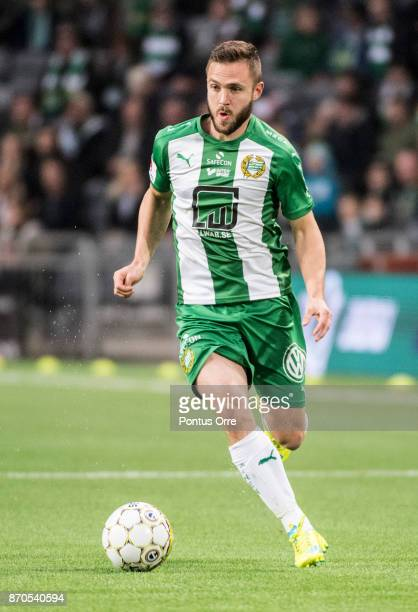 Mats Solheim of Hammarby IF during the Allsvenskan match between Hammarby IF and Halmstad BK at Tele2 Arena on November 5 2017 in Stockholm Sweden