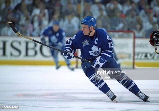 Mats Sundin of the Toronto Maple Leafs skates against the Buffalo Sabres during the 1999 NHL Semi-Final playoff game action at Marine Midland Arena...